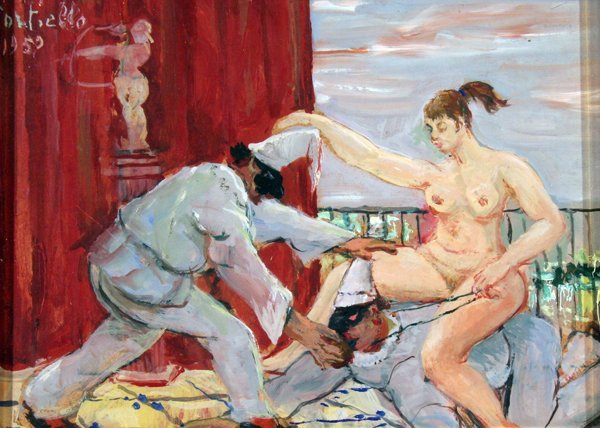 13: Cortiello Mario ( 1907 - 1981)-Italian Painting