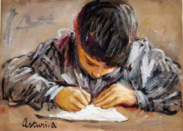 17: Asturi Antonio (1904 -1980)-Italian Painting