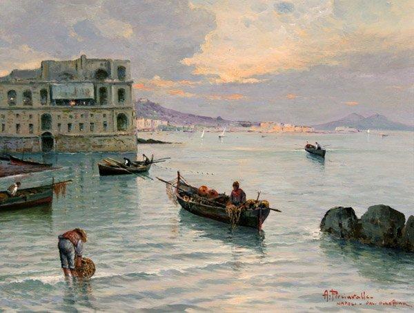 216: Perciavalle Antonio ( 1949)-Italian Painting