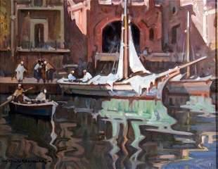 Alfredo Sablautzki - Italian painting