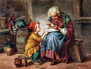 Raffaele Frigerio - Italian painting