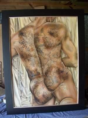 Mana D.C. Hewitt Illustrated Man