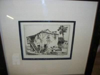 28: Alfred Hutty Charleston Etching