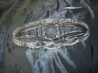 1A: Brilliant cut lead crystal relish dish