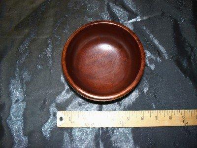 2A: Mahogany bowl w/ sterling base
