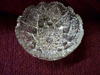 12A: Cut lead crystal bowl, brilliant, some minor wear