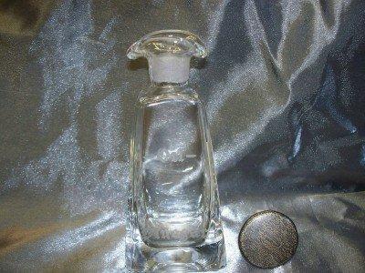 18A: Oil & vinegar cruet w/ sterling overlay lid, initi