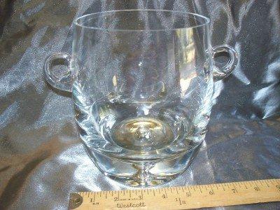 21A: Blown glass ice bucket