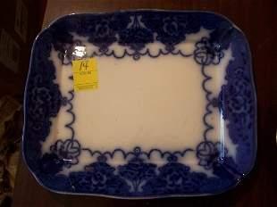 Lonsdale Flo Blue rectangular platter