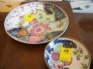 Mottahedeh plate and bowl, Tobacco Leaf pattern
