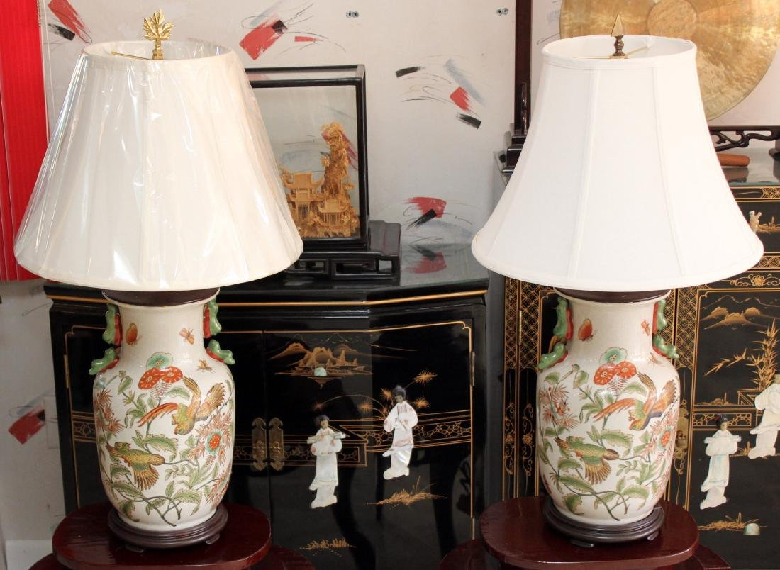Of chinese ceramic table lamps 29 tall pair of chinese ceramic table lamps 29 tall geotapseo Images