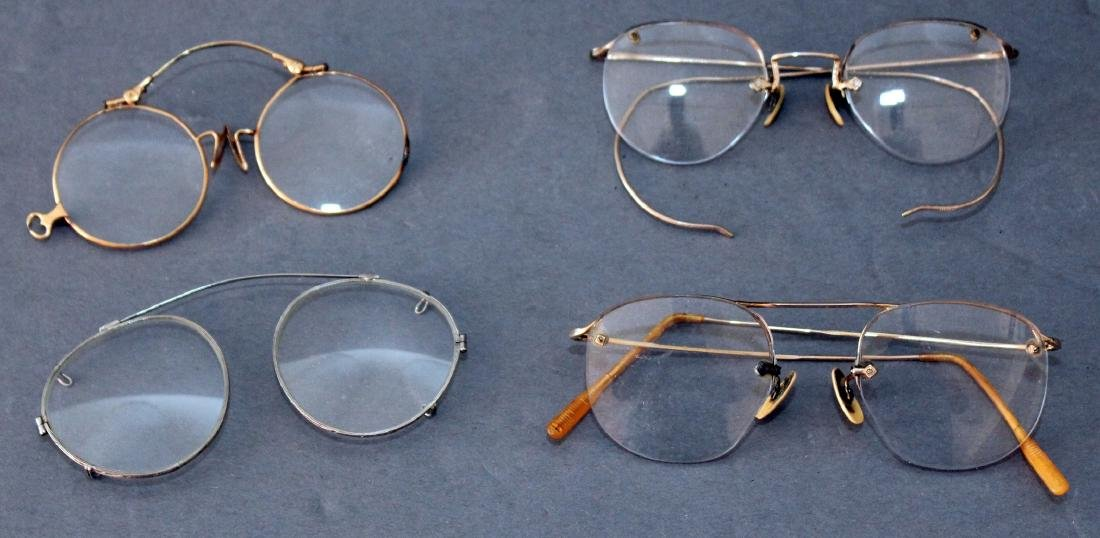 Lot of antique & vintage eyeglasses -- 1 pair marked