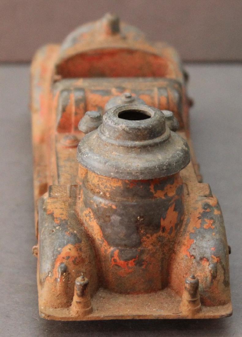 """cast alloy firetruck, 7.25"""" x 2.5"""" - 4"""