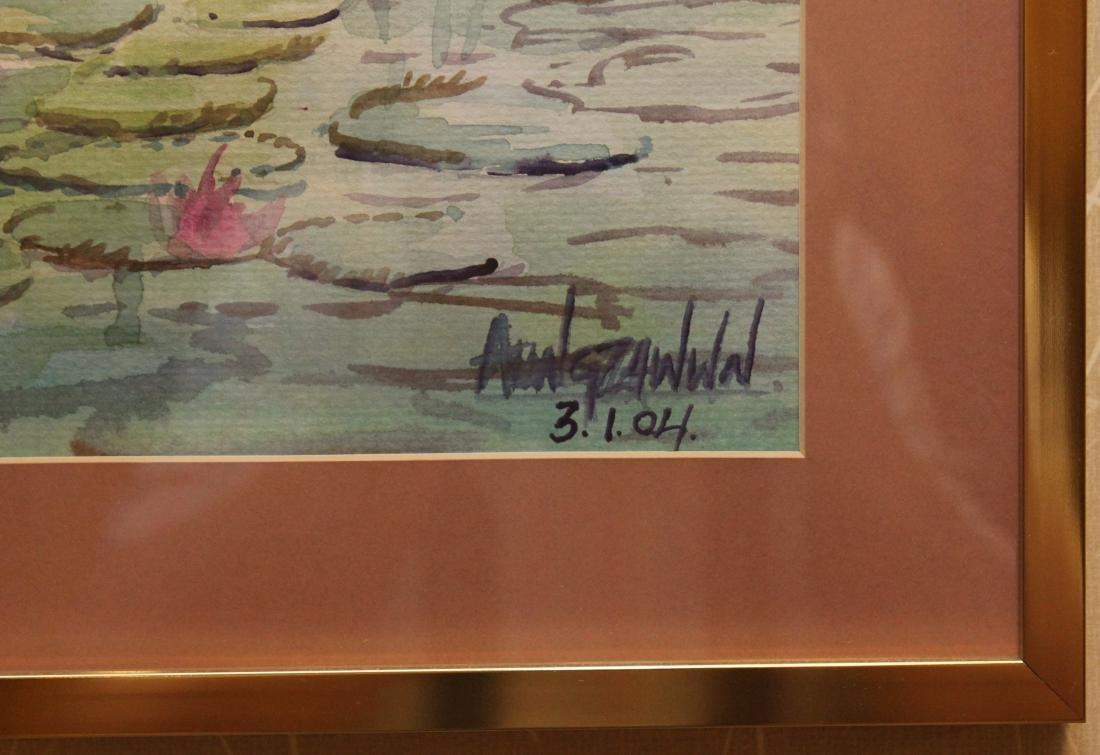4 Asian watercolors, Luay, Moe Kyaw & others; water - 4