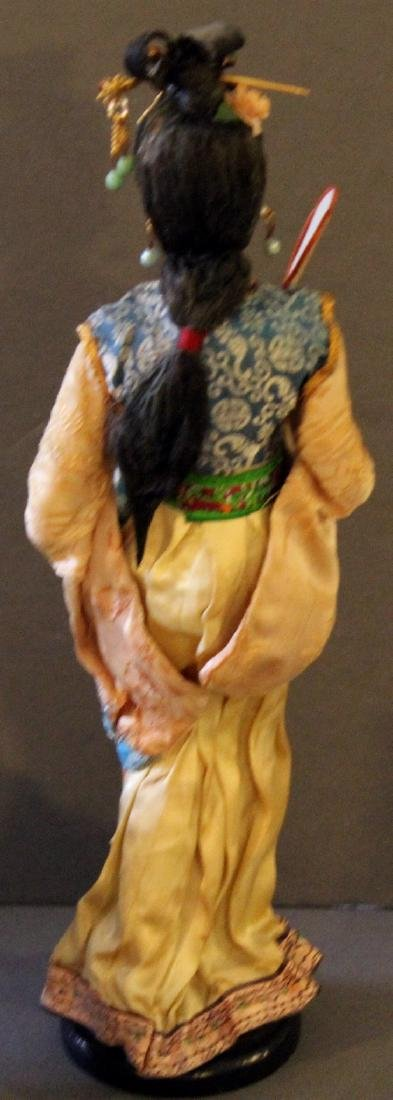 Chinese cloth doll; wdn carved bell; wdn carved open - 6
