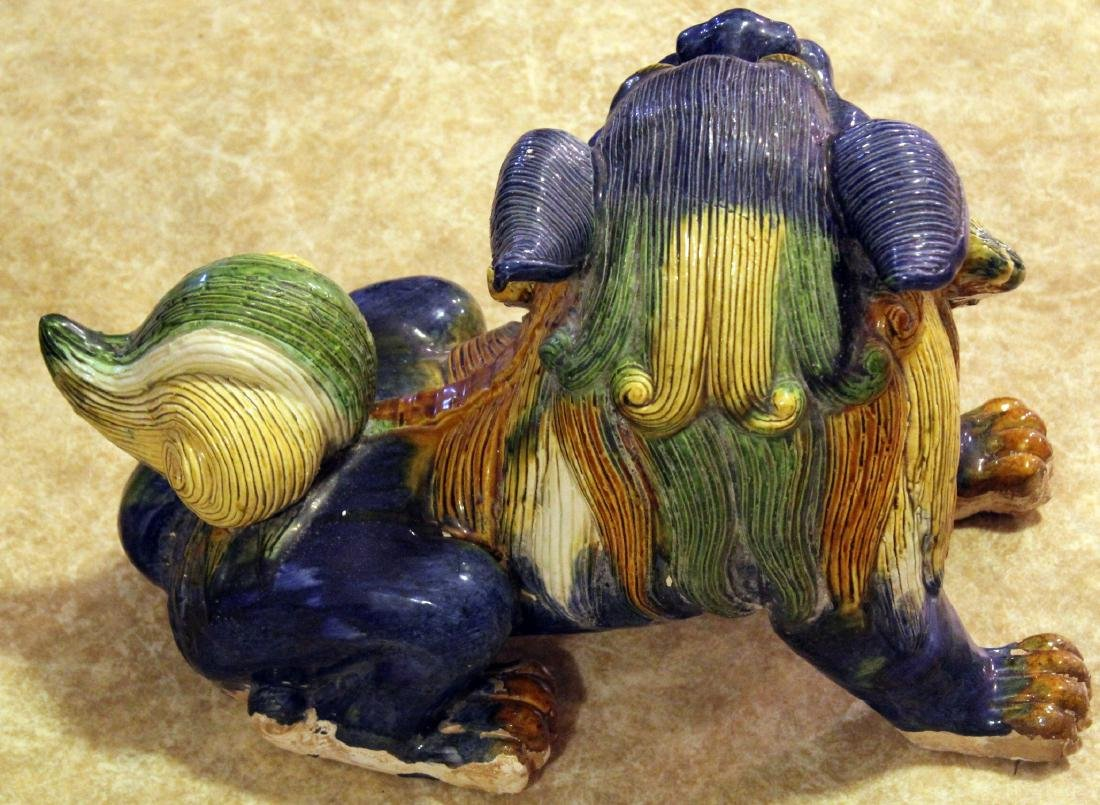 "Tang temple dog, glazed; 17"" x 11.5"" - 2"