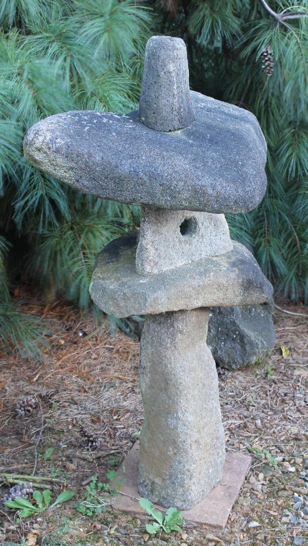 "Thai granite garden sculpture; 26"" x 41"" - 2"