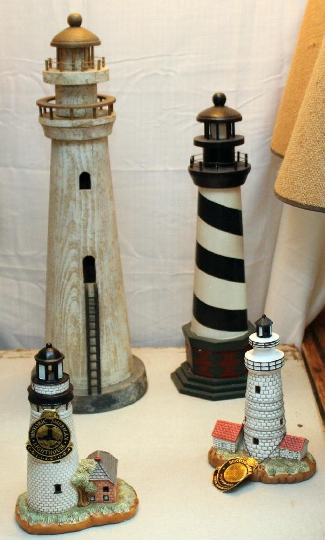 2 Lefton lighthouses -- Boston Harbor & St. Simmons