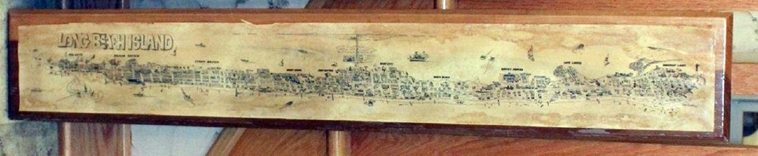 paper plaque on board of Long Beach Island; poster of a - 2