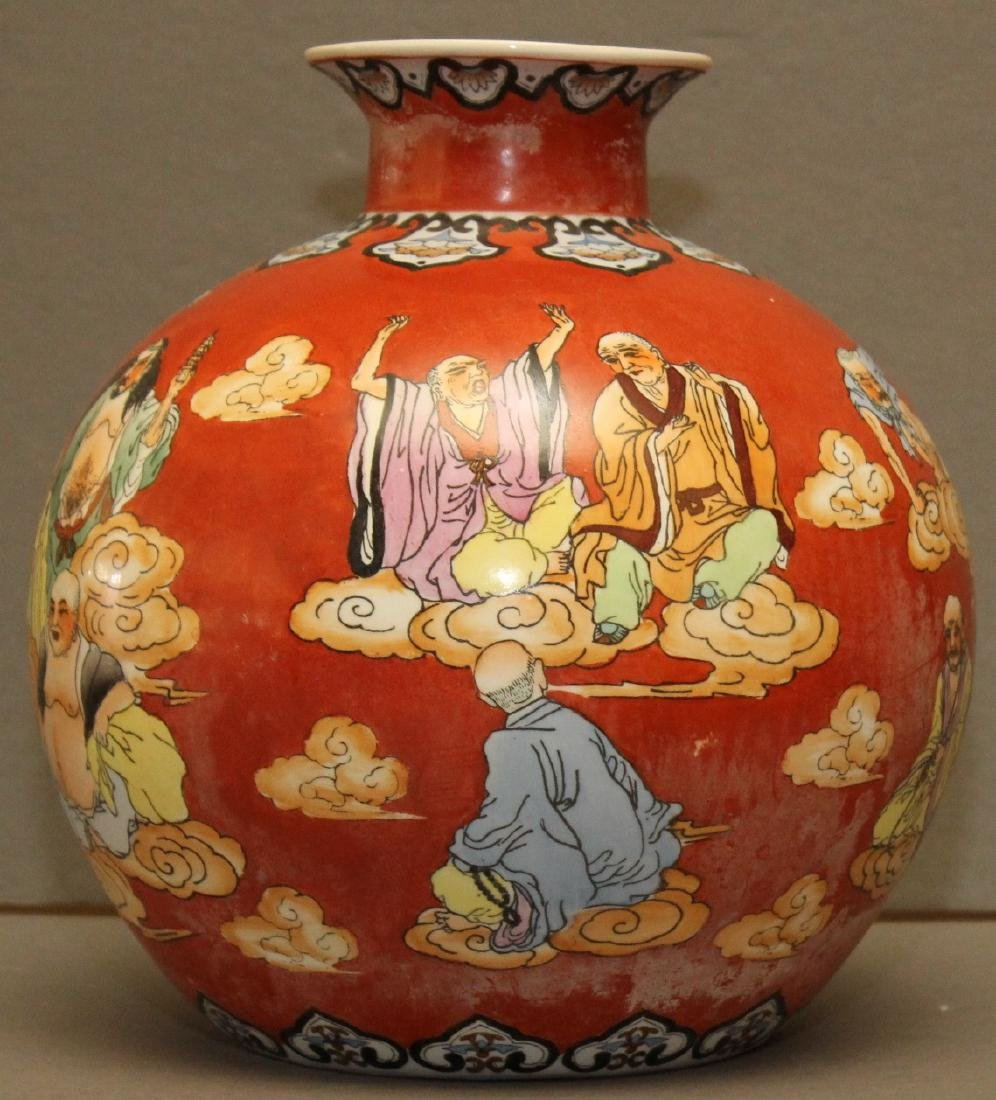 "Chinese gourd vase 10.5"" x 10.5"" depicting wisemen and - 3"