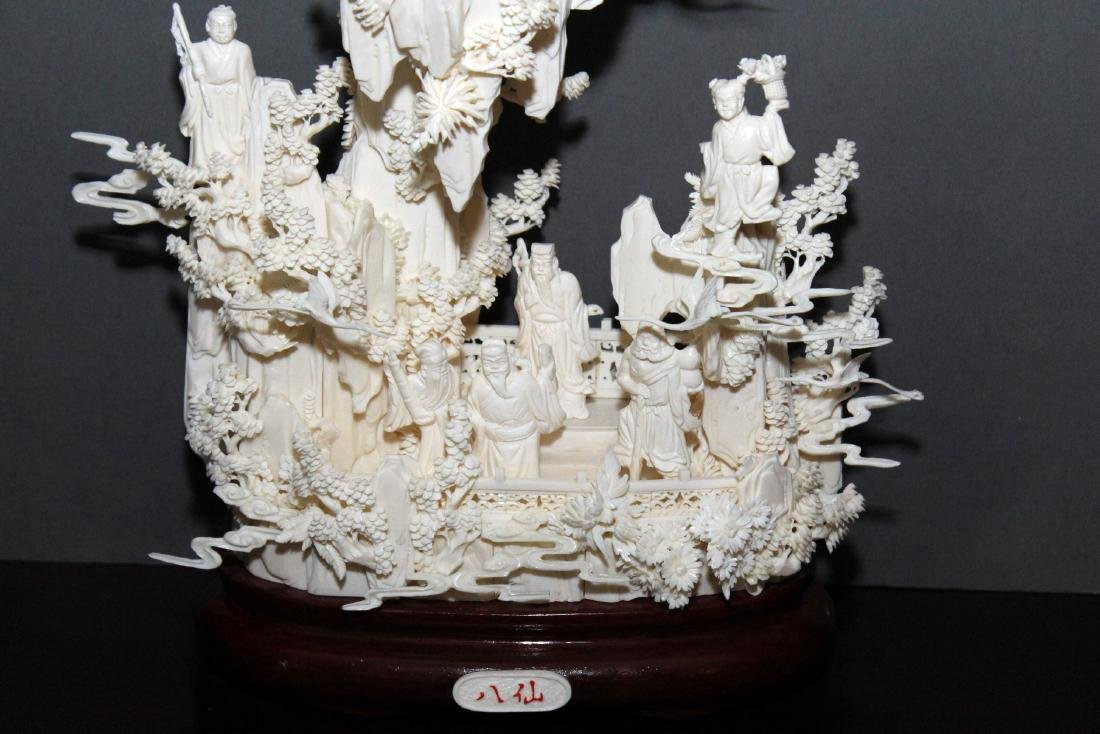 Chinese Carved and Veneered Bone Figural Group of - 2