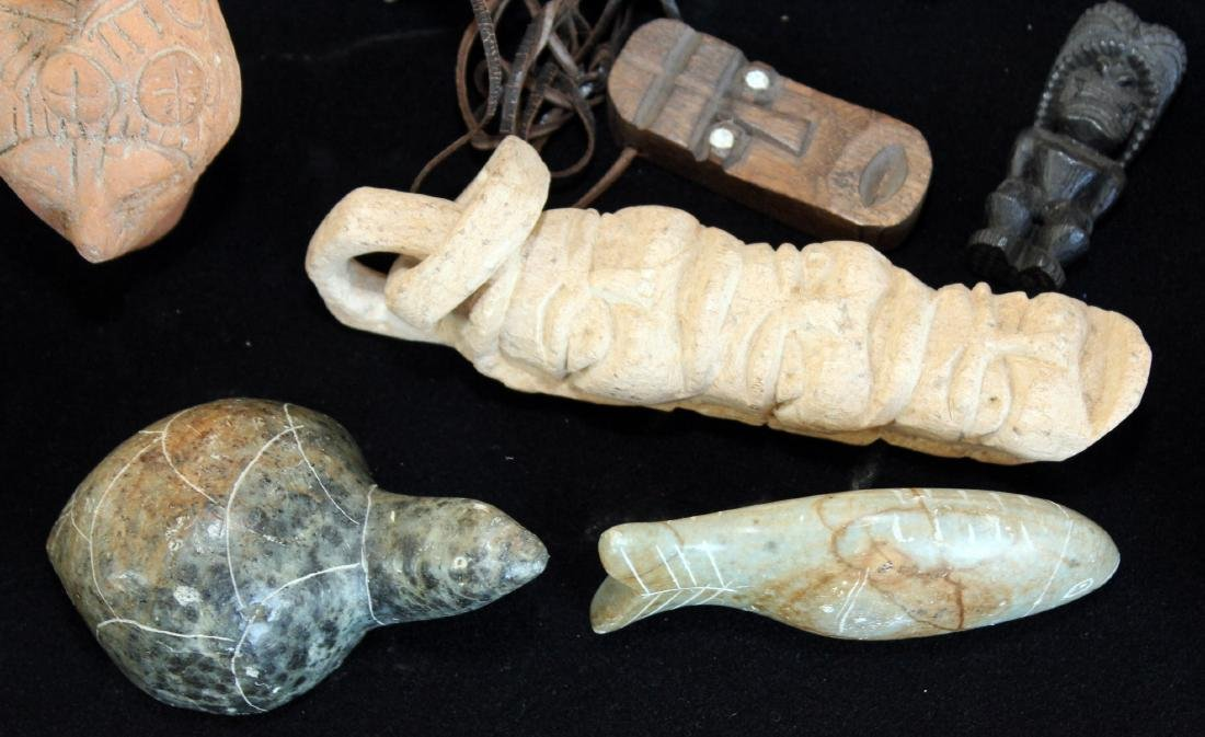 South American/Peruvian stone carved figures, soapstone - 5