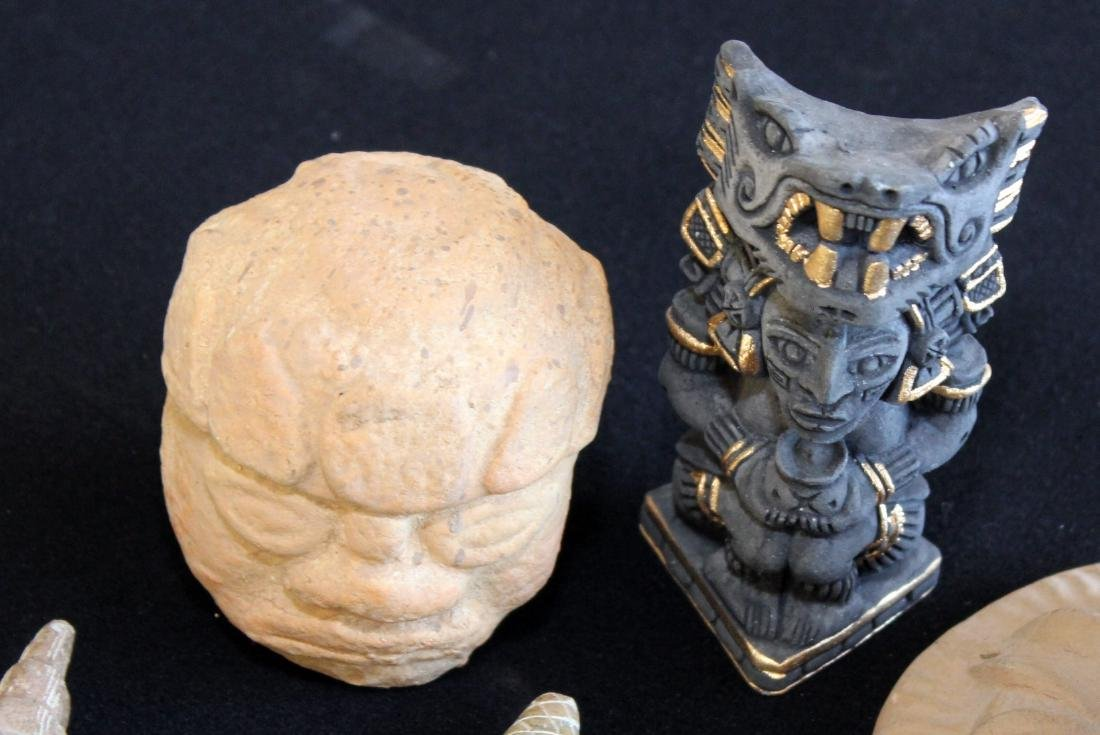 South American/Peruvian stone carved figures, soapstone - 6