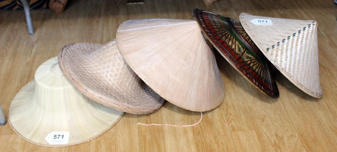 Lot of 5 asstd Asian hats