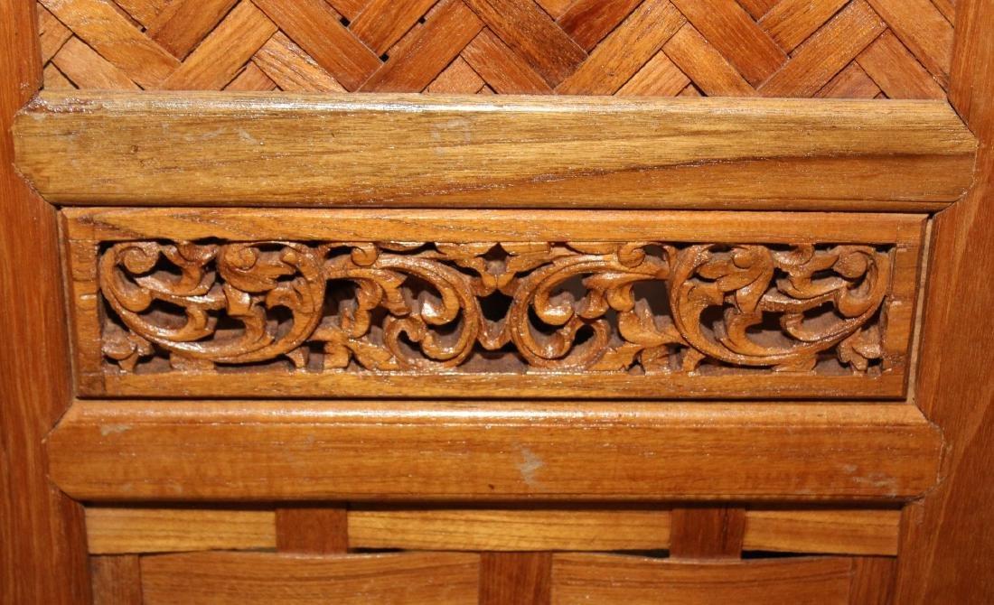 "Thai woven wood 5 panel screen 50"" x 72.5"" - 2"