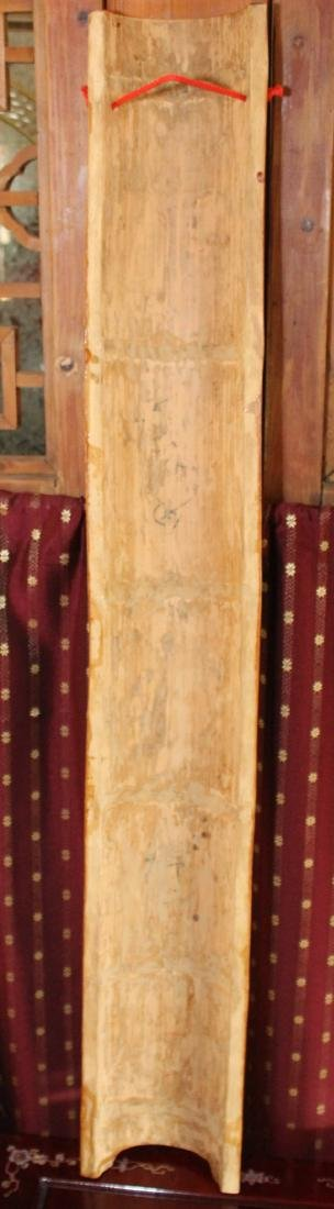 "Set of 4 Chinese wood carved floral half columns 41"" x - 2"