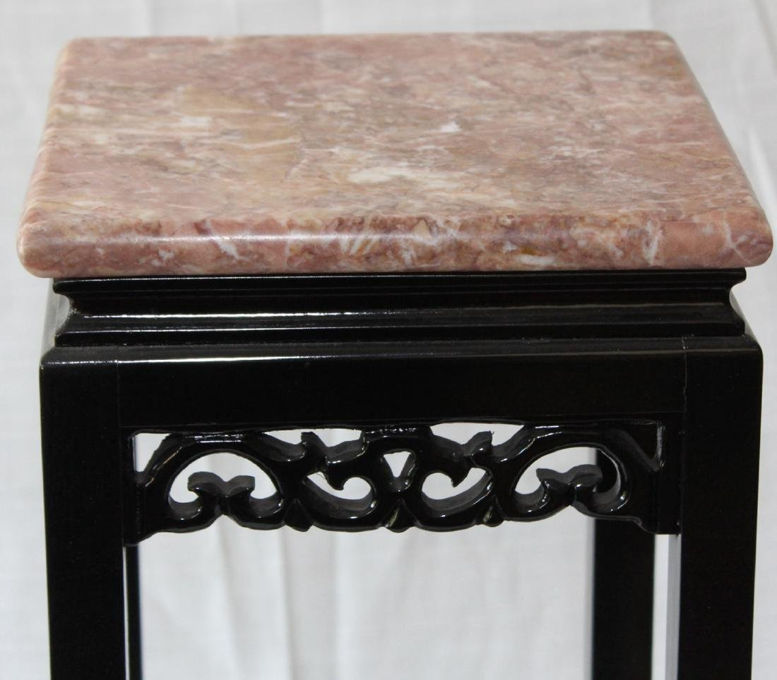 "Asian red marble top table 21.5"" x 10"" - 2"