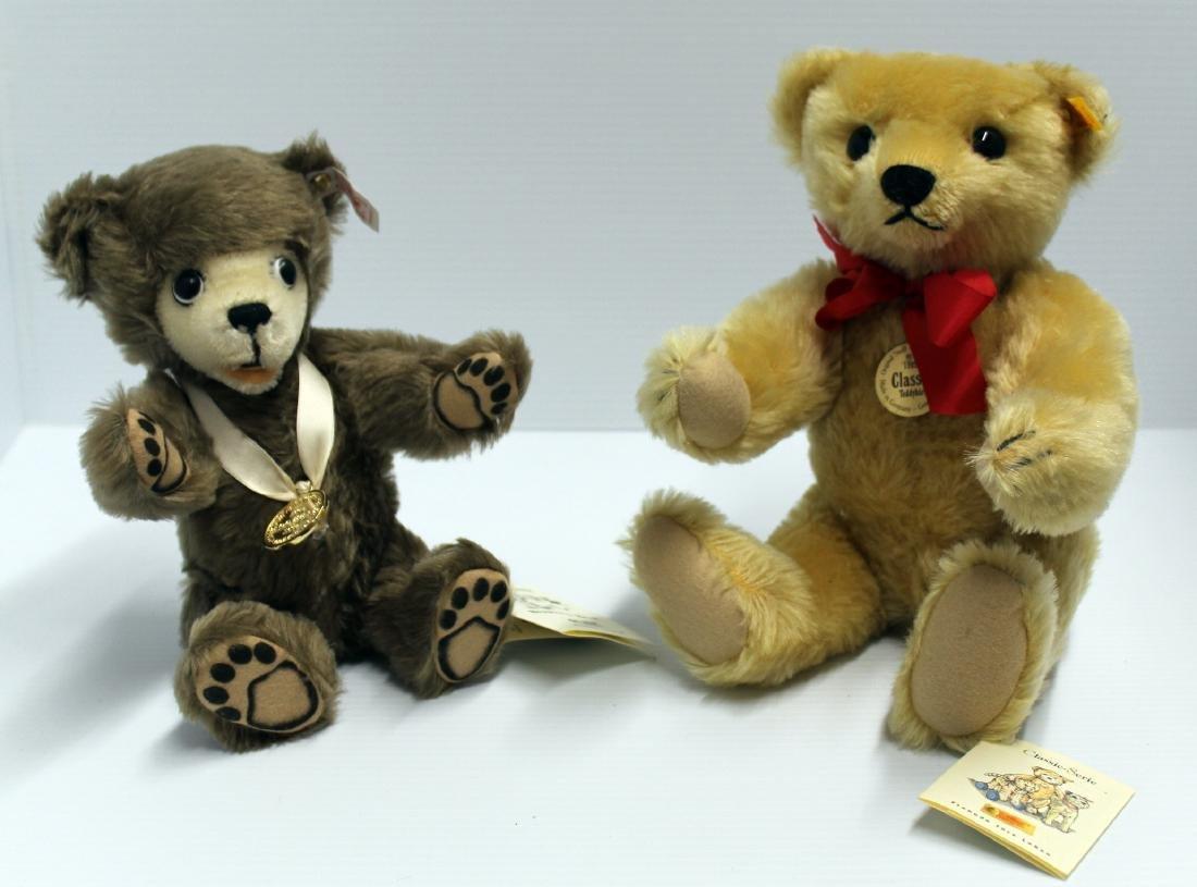 "(2) Steiff Bears; ""The Berryman Bear"", button in"