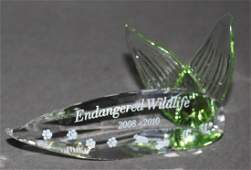 Swarovski Crystal  Title Plaque Endangered Wildlife