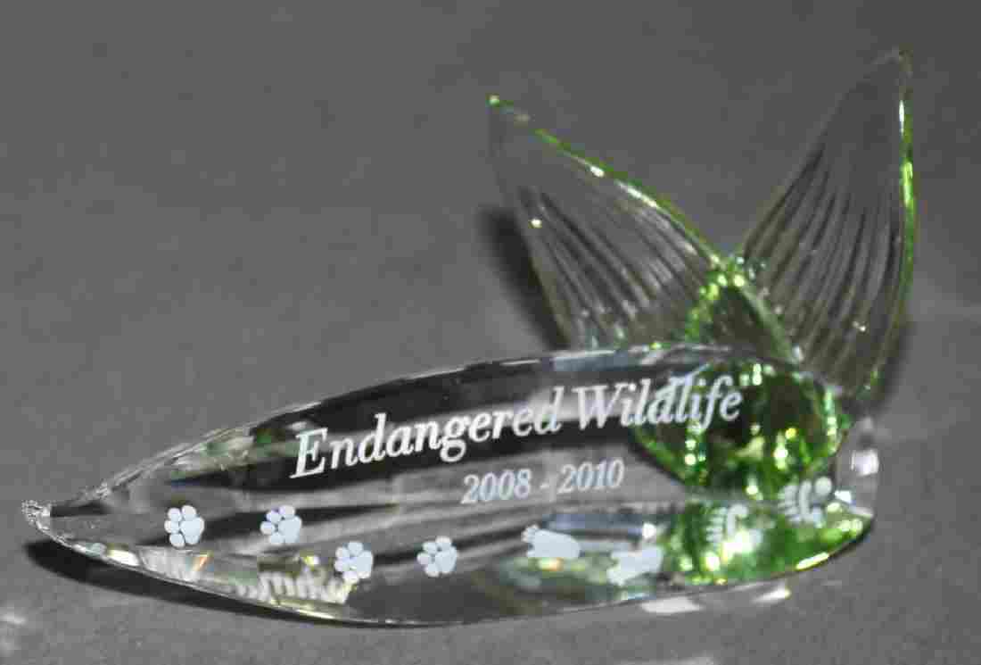 "Swarovski Crystal - Title Plaque ""Endangered Wildlife"