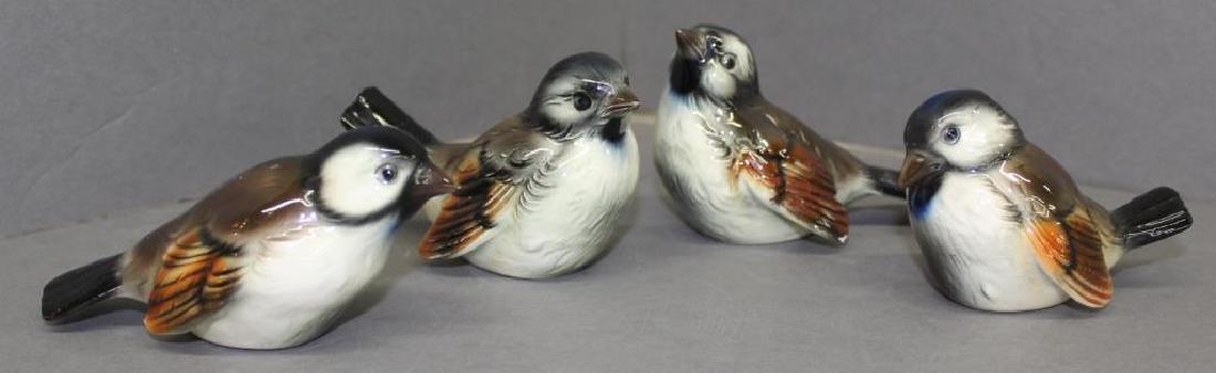 "(4) Goebel birds, average 4"" long x 3"" high"