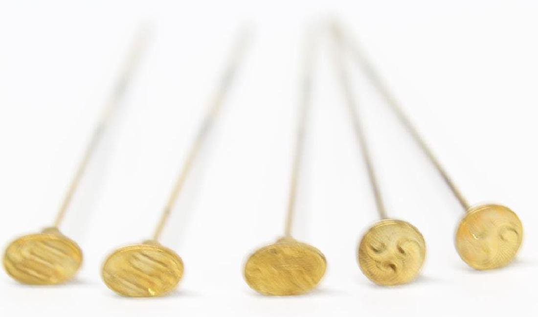"""(5) Hatpins, each about 6"""" long"""