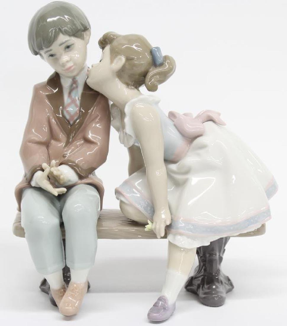 "Lladro figurine ""Ten and Growing"" 07635, 7"" long x 7.5"""