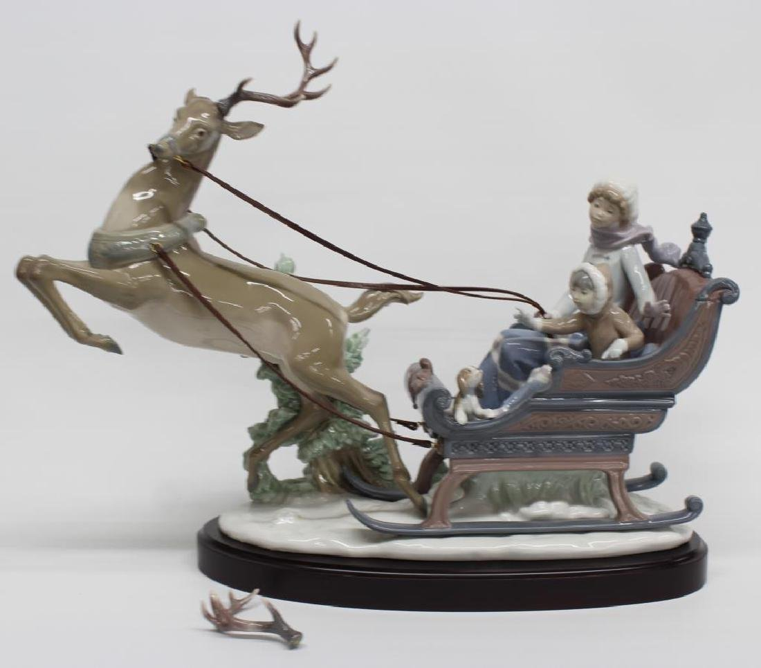 "Lladro figurine ""Winter Wonderland"" 01429, has base,"