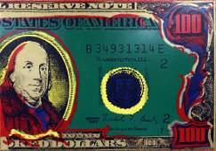 """Steve Kaufman """"Big Ben"""" oil & silk screen on canvas,"""