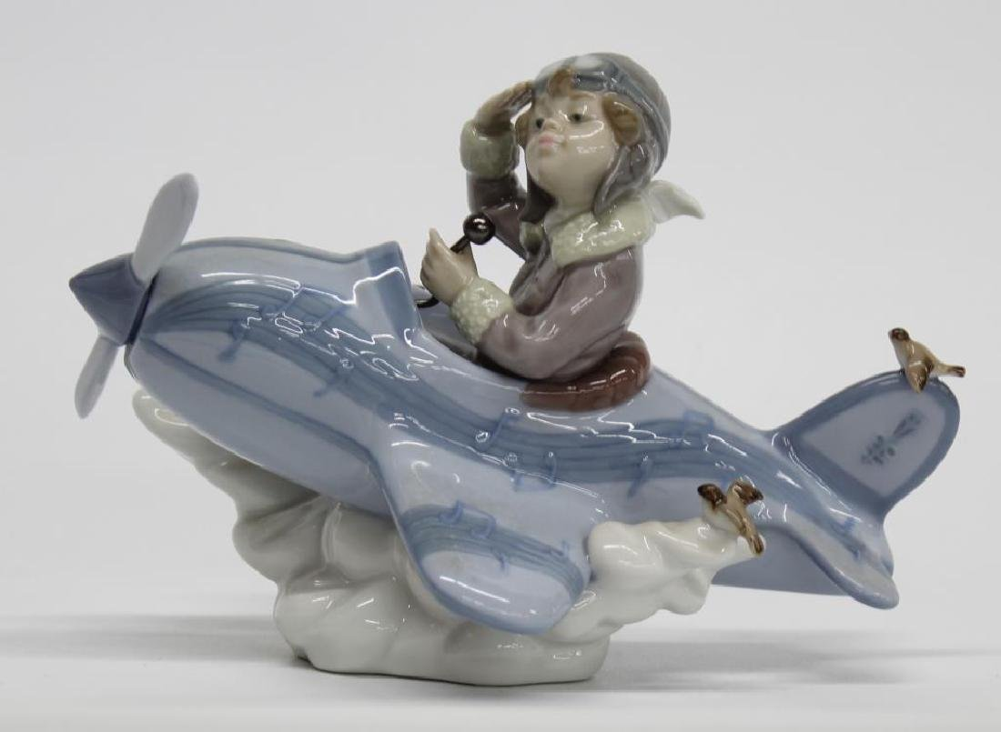 """Lladro Figurine """"Over the Clouds"""" 5697, 5"""" high x 8"""""""