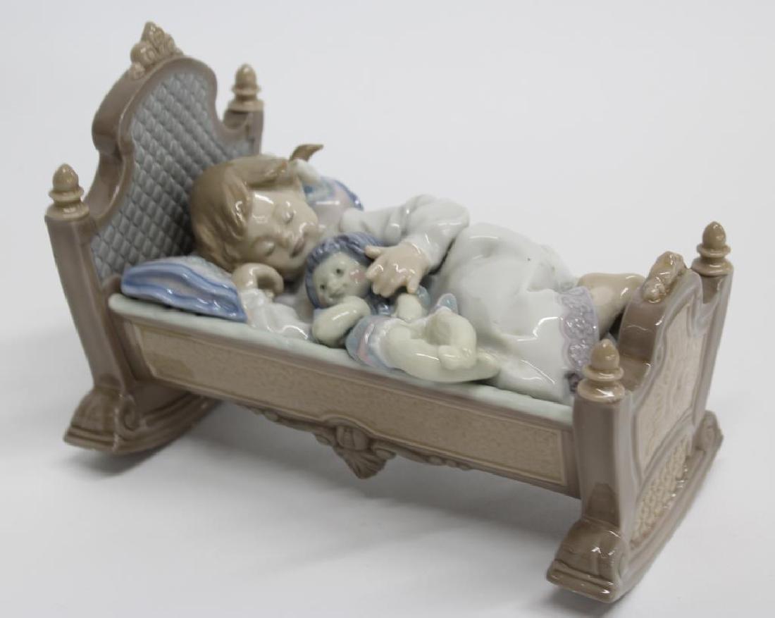 "Lladro Figurine ""Rock A Bye Baby"" 5.717, 6.25"" long x"