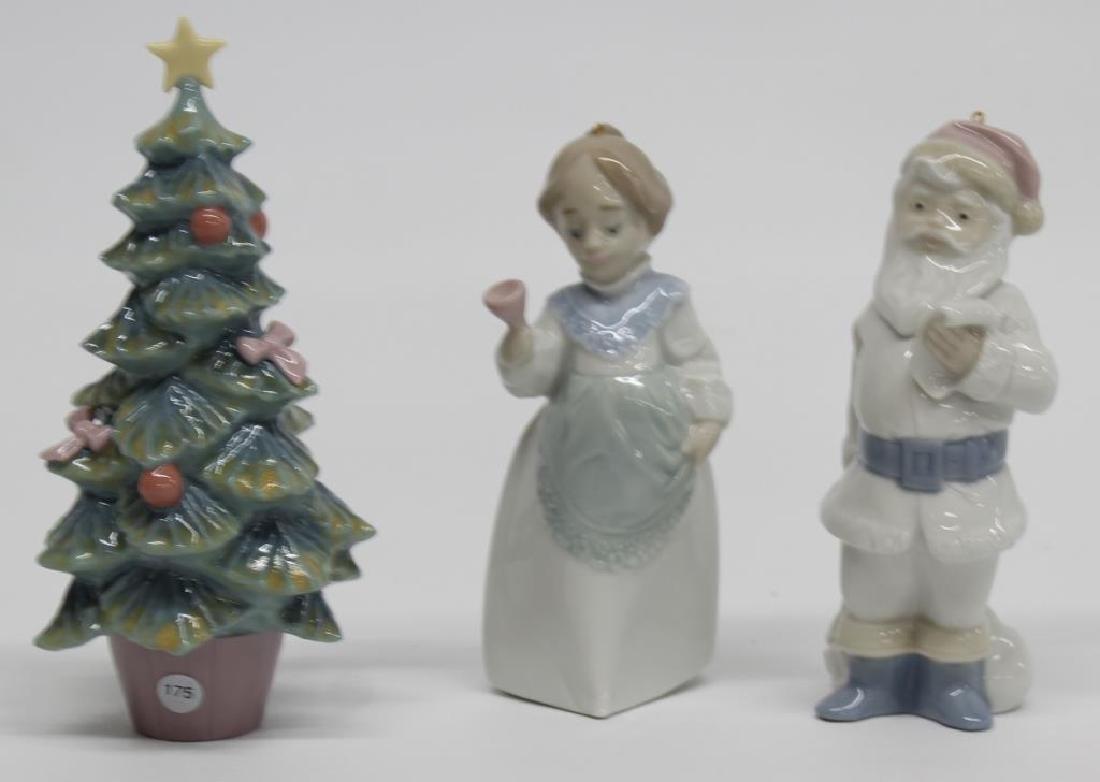 "Lladro Figurine 3 Christmas pieces - ""Santa Claus"""