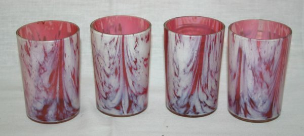 10: Cranberry Opalescent Tumblers