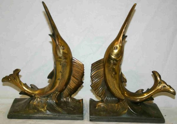 434: Pair Marlin (Fish) Bookends