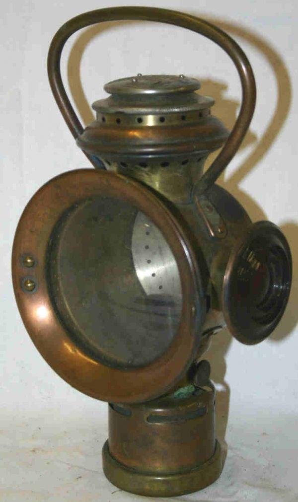 465: Brass NeverOut Insulated Kerosene Safety Lamp