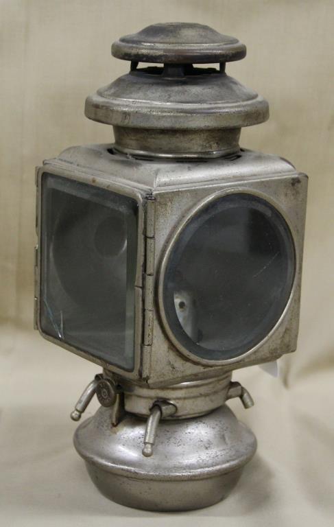 "E&J Buggy Light Pat. 1908, 11"" high,"