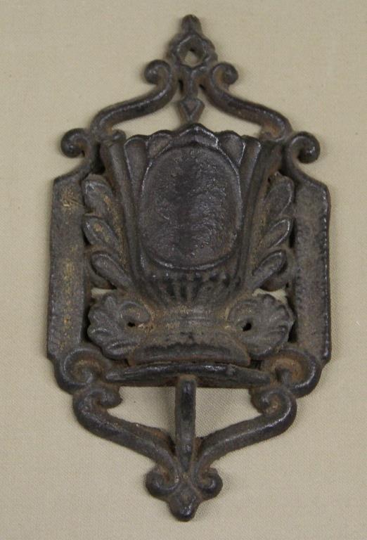 cast iron match holder, wall mount