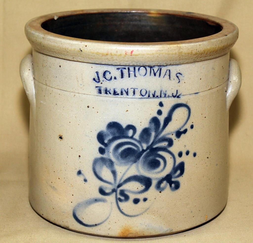 "1 gallon blue decorated 10"" diameter"