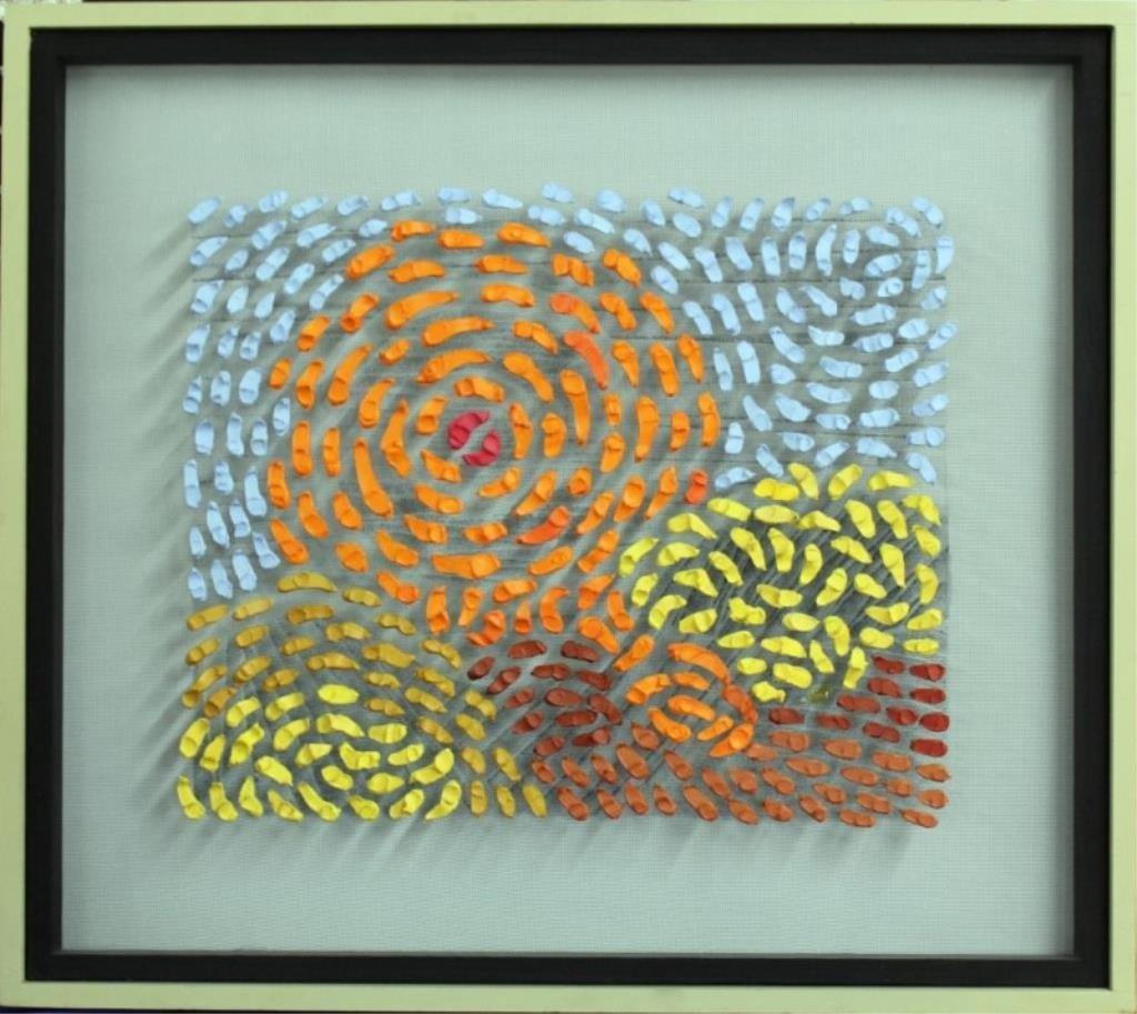 Jef Brtschneider acrylic on mesh wire frame,