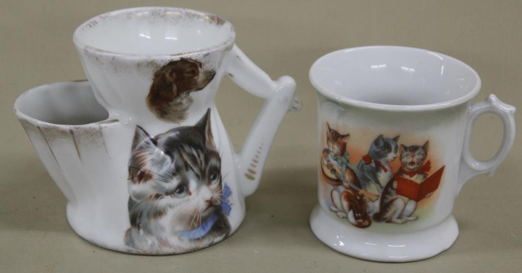 German cats mug, cat/dog shaving cup